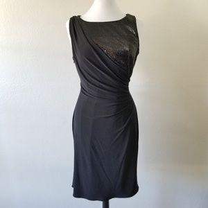 R&M Richards Black Sequin Dress 12 (NWOT)